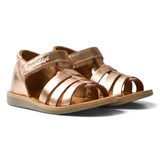 Pom D'api Copper Metallic Poppy Strap Sandals