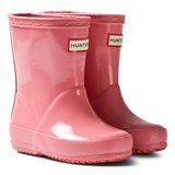 Hunter Panther Pink Kids First Wellington Boots