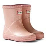 Hunter Pink Sand Glitter Kids First Wellington Boots