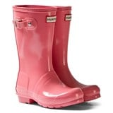 Hunter Panther Pink Original Kids Gloss Wellington Boots