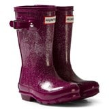 Hunter Bright Violet Glitter Original Kids Wellington Boots