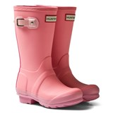 Hunter Pink Original Kids Contrast Wellington Boots