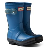 Hunter Blue Original Kids Contrast Wellington Boots