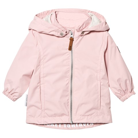 Peachskin Rose Komma Jacket With Detachable Hood