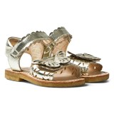 Angulus Gold Butterfly Open Toe Sandals