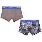 Calvin Klein Pack of 2 Printed and Plain Trunks