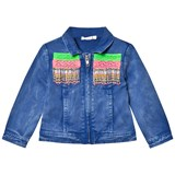 Billieblush Blue Wash Denim Jacket with Beaded Detail