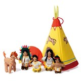 oskar&ellen Native Teepee Playset