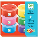 Djeco 6 Pots of Multi-Colour Clay