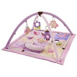 Skip Hop Pink and Purple Owl Patchwork Activity Gym