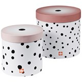 Done by Deer Powder Pink Happy Dots Round Box Set