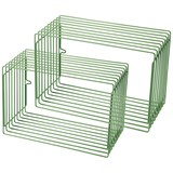 Done by Deer Wire Shelf Rectangle 2 pcs Green