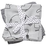Done by Deer Pack of 2 Grey Contour Swaddles
