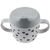 Done by Deer Grey Happy Dots 2-Handle Spout Cup