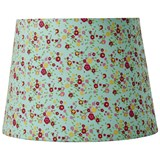 RICE A/S Medium Lampshade, Mint/ Floral Print