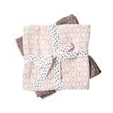 Done by Deer Pack of 2 Powder Pink Balloon Print Burp Cloths
