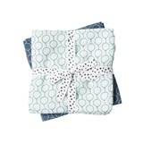 Done by Deer Pack of 2 Blue Balloon Print Burp Cloths