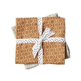 Done by Deer Pack of 2 Golden Balloon Print Burp Cloths