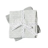 Done by Deer Pack of 2 Grey Balloon Print Burp Cloths