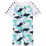 Snapper Rock Blue and White Sharks Sunsuit
