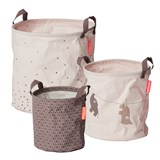 Done by Deer Powder Pack of 3 Soft Storage Baskets