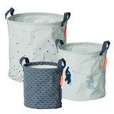 Done by Deer Blue Pack of 3 Soft Storage Baskets