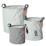 Done by Deer Grey Pack of 3 Soft Storage Baskets