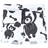 Koolabah White and Black Strong Bear Shorts