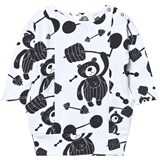 Koolabah White and Black Strong Bear Pocket Dress
