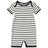 Petit by Sofie Schnoor White and Black Baby Jumpsuit
