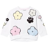 Simonetta White Flower Sweatshirt