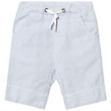 eBBe Kids Off White and Blue Stripe Joel Low Crotch Shorts