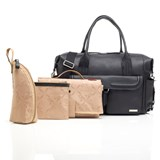 Storksak Black Leather Charlotte Changing Bag