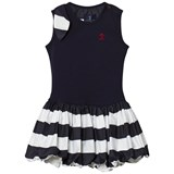 Jessie & James Navy and White Stripe Daisy Dress with Bow Detail