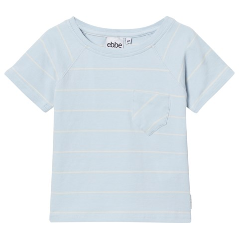 Pale Sky and Off White Stripe Elmo Tee