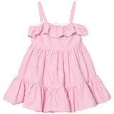 Ralph Lauren Pink Seersucker Frill Dress
