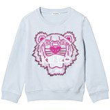 Kenzo Kids Blue Beaded and Embroidered Tiger Sweatshirt