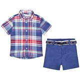 Ralph Lauren Blue Madras Shirt, Shorts and Belt Set