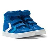Hummel Imperial Blue Stadil Leather Jr Trainers