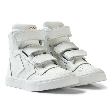 Hummel White Stadil Mix Jr Trainers