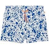 Tinycottons Off White and Blue Enamel Shorts