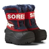 Sorel Red and Black Snow Commander Velcro Boots