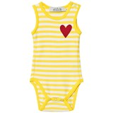 ANÏVE for the minors Yellow and White Stripe Baby Body with Heart Print