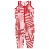 ANÏVE for the minors White and Red Stripe Tokyo Jumpsuit