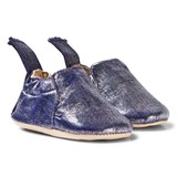 Easy Peasy Navy Shimmer Blumoo Crib Shoes