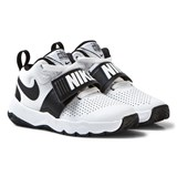 Nike White and Black Team Hustle Kids Trainers