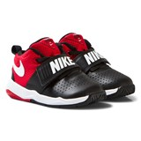 Nike Black and Red Team Hustle Infants Trainers