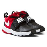 Nike Black and Red Team Hustle Kids Trainers
