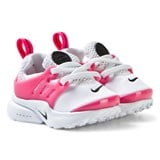 Nike White and Pink Infants Little Presto Trainers