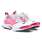 Nike White and Pink Junior Presto Trainers